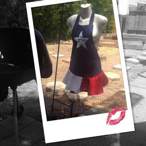 Sexy 4th of July Short Skirt Apron